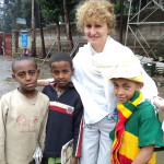 Dolores McCullagh, 2012 Volunteer Teacher in Atse with some of the students she taught.