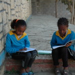 Fairus Girmay (10) and Delina Weldu (11) St. Vincent's Community Centre, Mekele