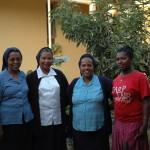 The Daughters of Charity community at Bulbula welcome VLM volunteers every year. L to R: Sr Abeba, Sr Elsa, Sr Belaynesh and Lalisa (aspirant)