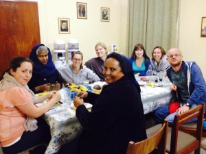 Irish VLM volunteers meeting the VLM USA volunteers in Addis Ababa after their placement in Jimma, summer 2014.
