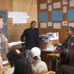 Kathleen Conlon teaching in Atse Tekle Ghiorgis Primary School