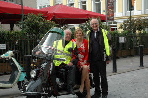 Gerry Feeney, Mary Kennedy RTE & Fr MIchael McCUllagh at the launch of the All-Ireland Bike Gathering.