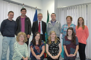 VLM volunteers visiting the Irish Embassy in Addis Ababa, summer 2014