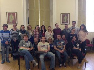 2014 volunteers at pre-departure training at All Hallows College last April.