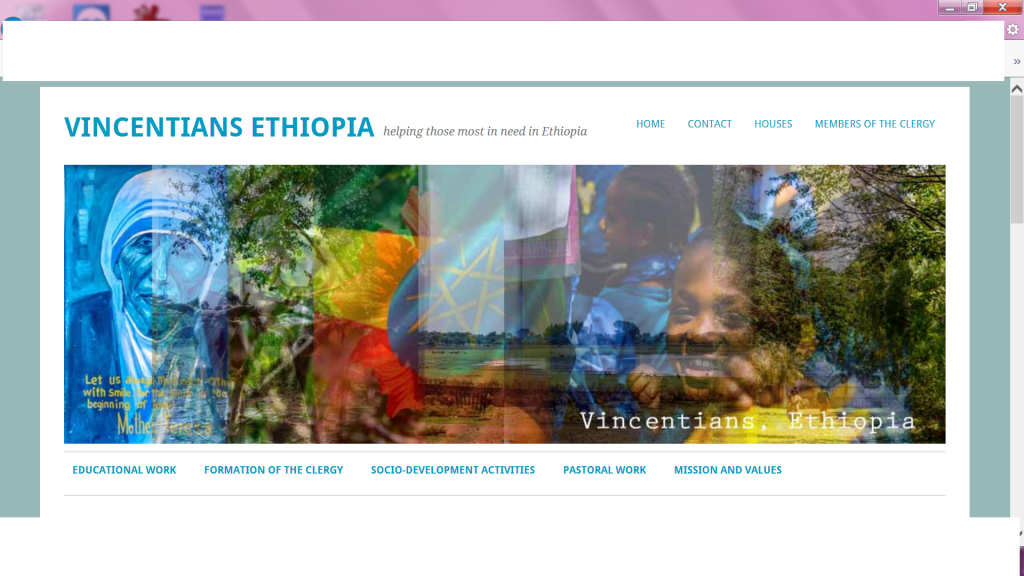 Website created by VLM volunteer Enda Nevin for the Vincentian Fathers in Ethiopia (vincentiansethiopia.wordpress.com)