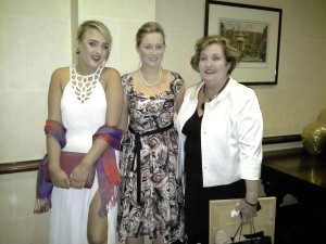 Niamh West, Orla Cashell and Kathleen Conlon, 2014 VLM volunteers at VLM's Gala Ball 2014.
