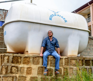 Enda Nevin, 2014 VLM volunteer, with a water tanker for an irrigation project in Shashinda, Ethiopia. Enda was instrumental in the set-up of this project in his capacity building work with our partners.