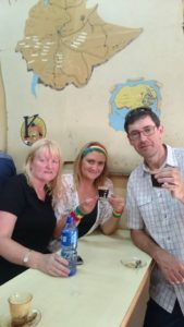 Fr Stephen with Margaret Ann O'Brien and Denise Dowling in Ethiopia last October