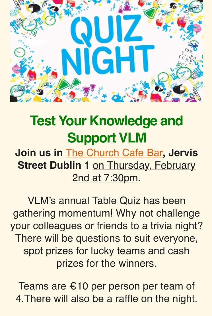 Vlm annual quiz 2017 vlm vincentian lay missionaries for Table quiz dublin